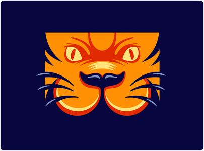 Cartoon Tiger Logo Design Example in 2021