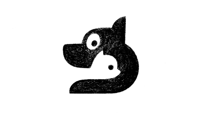 Cat Dog minimalist logo