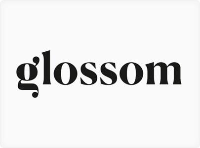 Glossom logo design trending in 2021