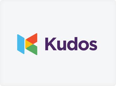 Kudos Logo design trend example in 2021