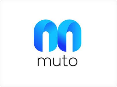 Muto Modern logo design with gradients in 20211