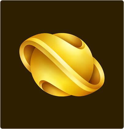 Nebula brand 3D logo design trend