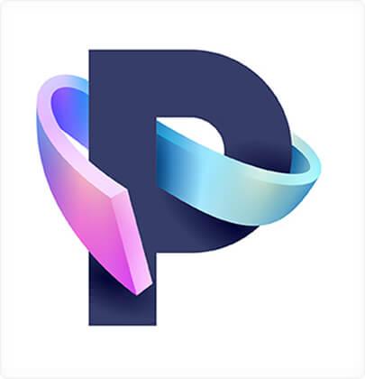 P amazing 3D logo design concept in 20211