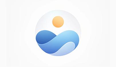 Sunrise and sea logo