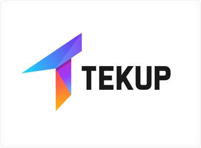 Tekup Logo design with bright vivid colors in 2021