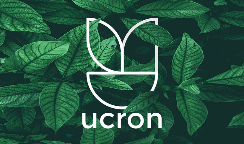 Ucron logo design example with natural feel