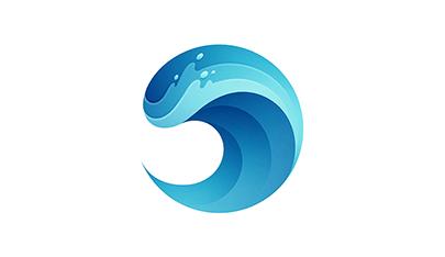 Wave gradient logo