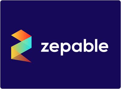 Zepable Colorful modern logo design in 2021