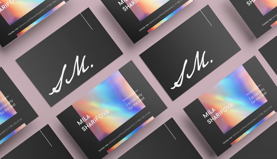gradients name card 2021