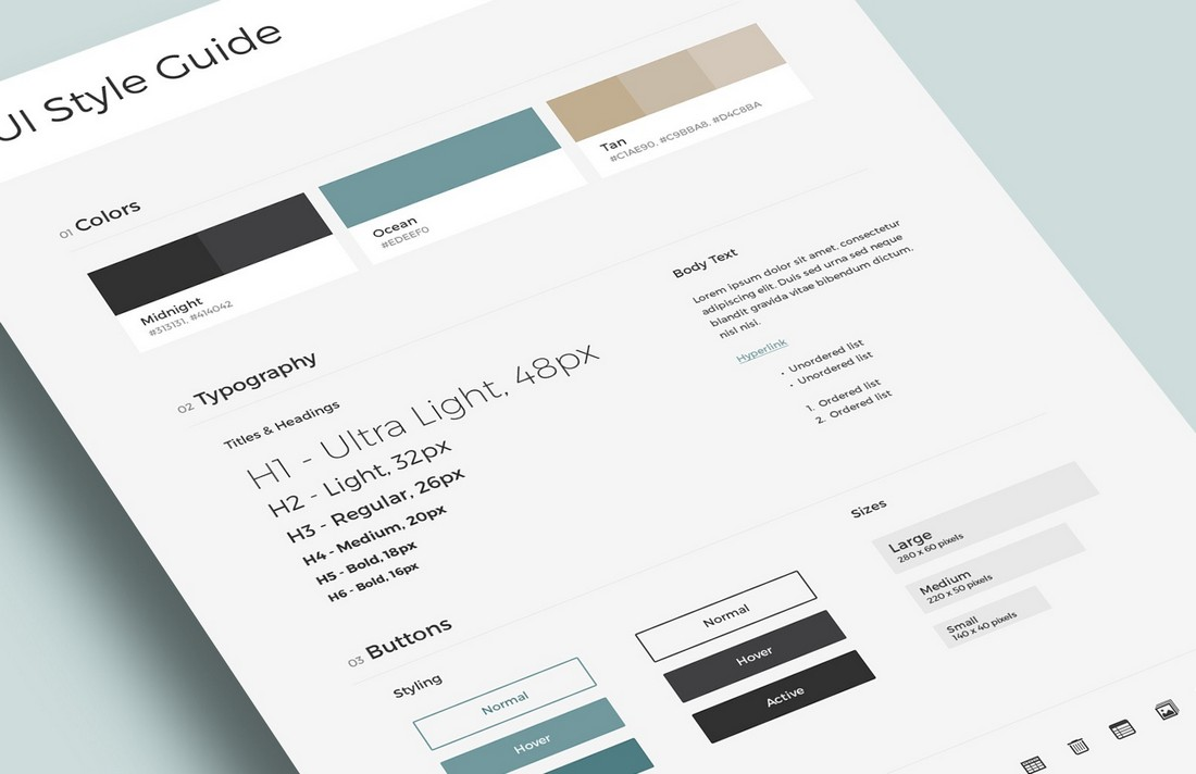 Free-UI-Brand-Style-Guide-Template