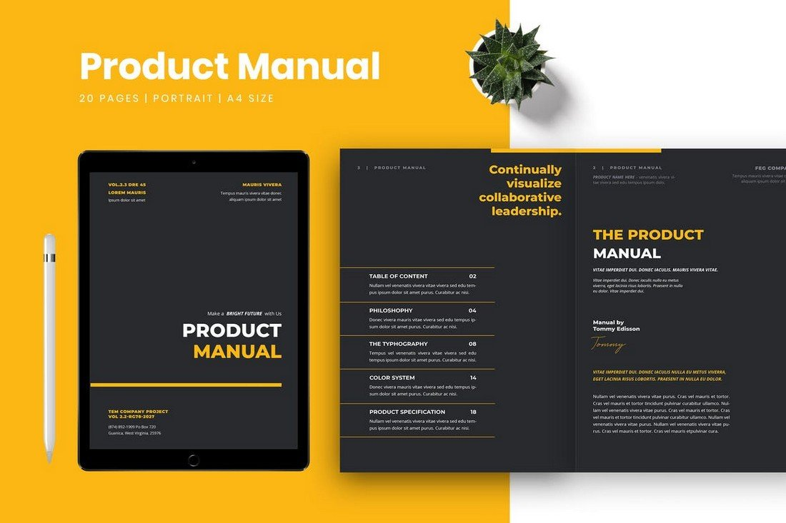 Modern-Brand-Product-Manual-Template