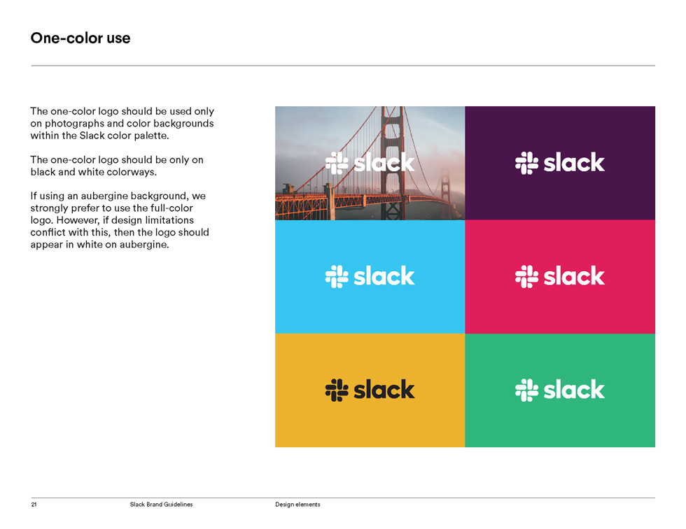 Slack Brand Guidelines Page 21