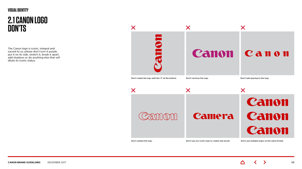 canon brand guidelines Page 10
