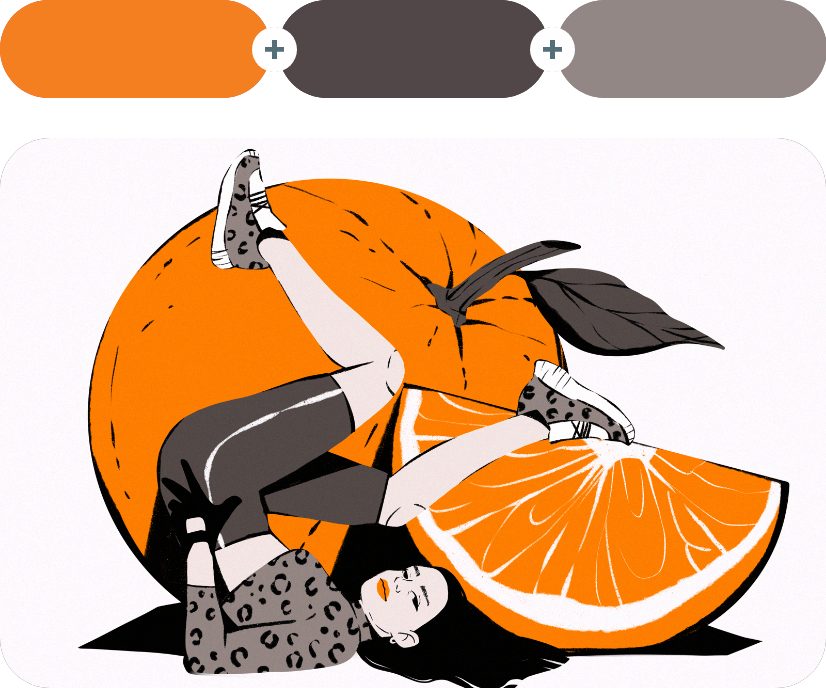color combinations with orange example 6