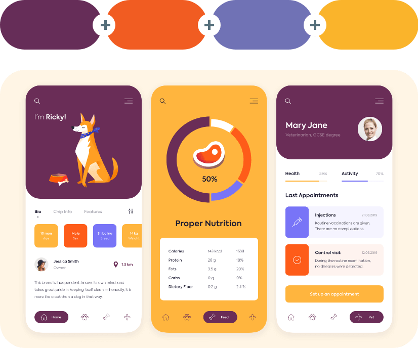 color combinations with violet example 6