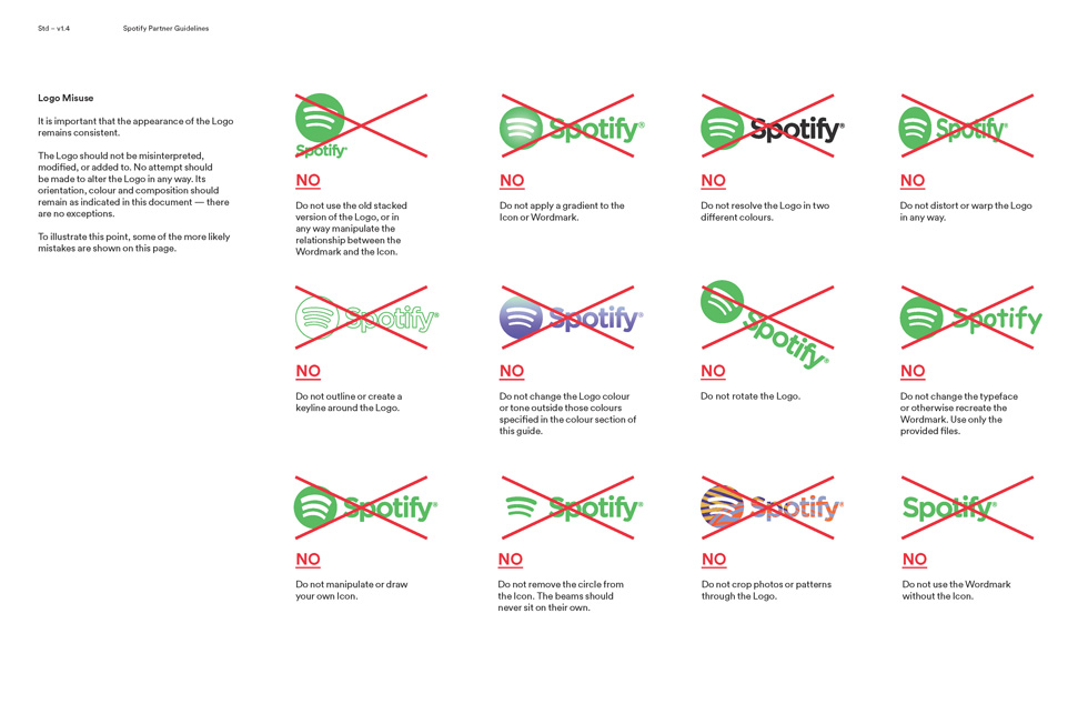 spotify logo color guidelines Page 11