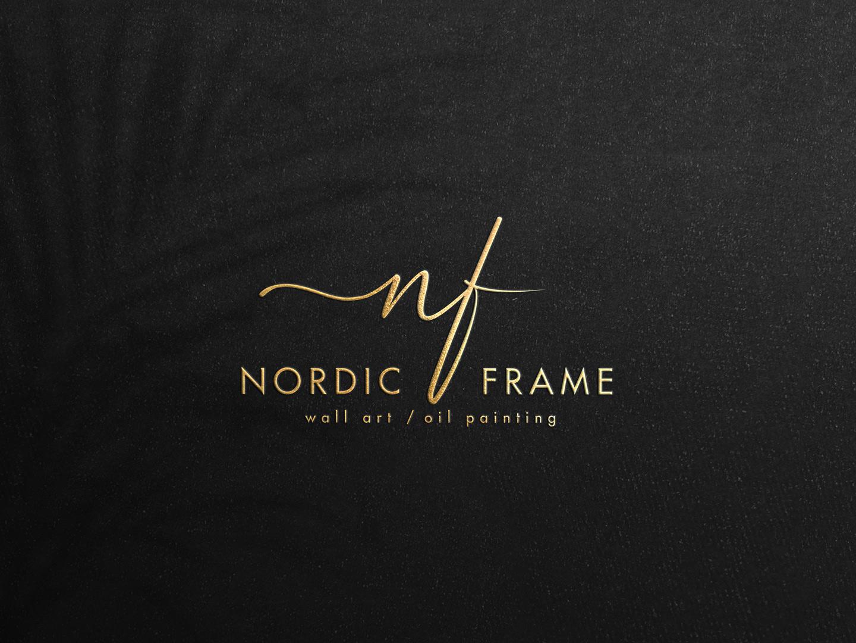 Nordic Frame logo mockup 1