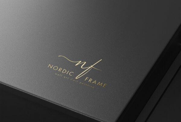 Nordic Frame logo mockup 2